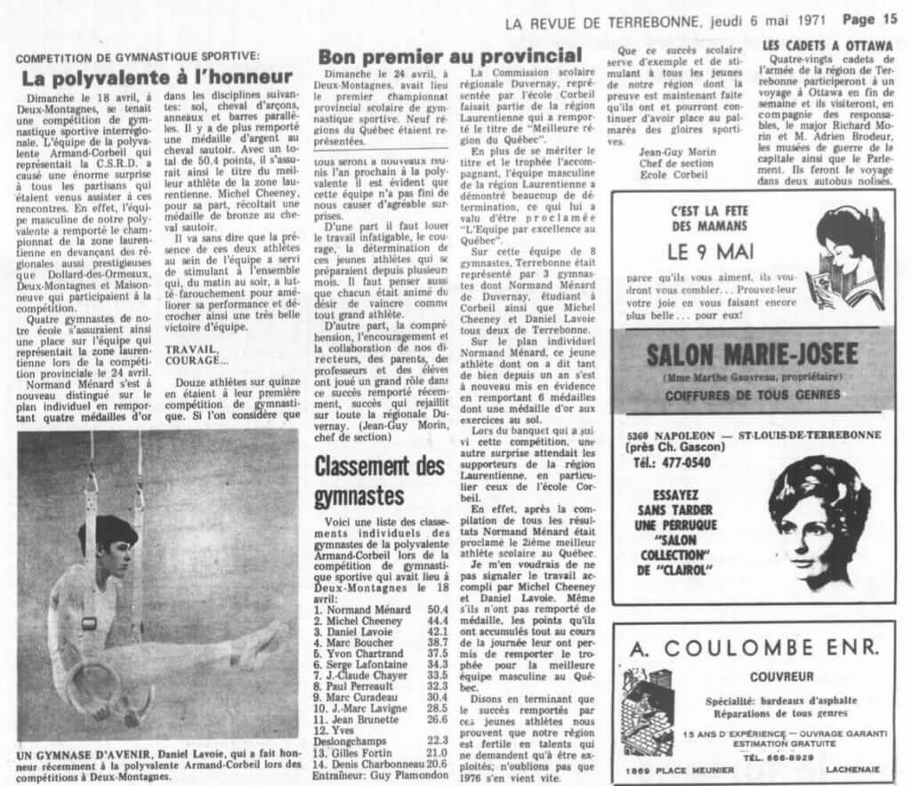 Gymnastique - 1971